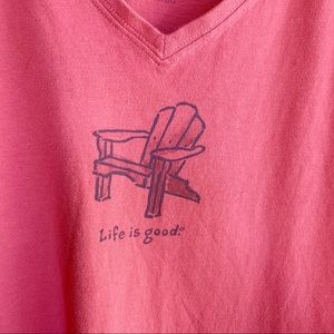 Life Is Good Tops - Life Is Good women's V-neck